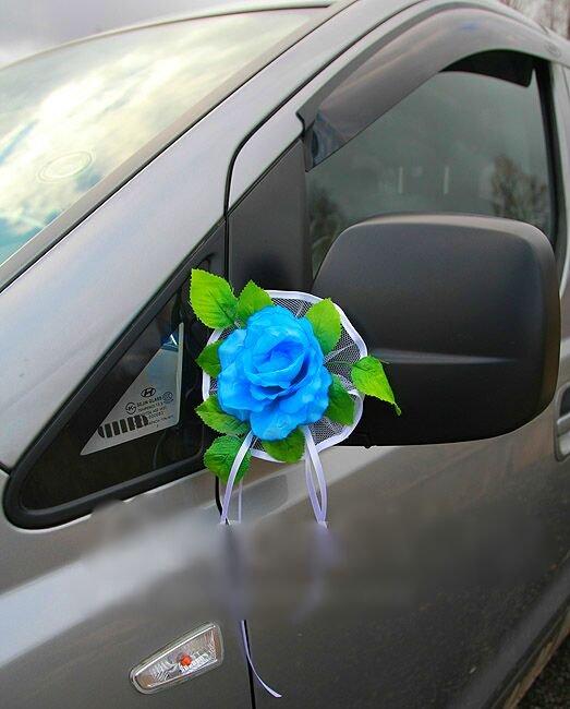 Свадебное украшение на зеркала машины своими руками
